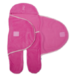 Fleece Baby Wrap - A Hooded, Footed Baby Blanket $45 Red, Pink & Navy.