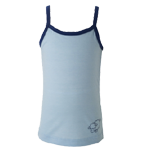 Merino Kids Camisole Top $39 - $45 in Vanilla, Blue & Pink.