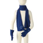 Merino Kids Gloves and Scarf Sets $60 in Pink & Blue.