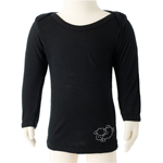 Babies Long Sleeve Merino Tops - $24 clearance in Liquorice.