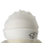 Babies and Kids Beanie - $8 Prem clearance to 10 years in Vanilla and Liquorice.