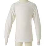 Kids Long Sleeve Merino Tops - $35 clearance to 14 years in Vanilla and Liquorice.