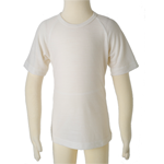 Kids Short Sleeve Merino Tops - $25 to $35 clearance to 14 years in Vanilla and Liquorice.