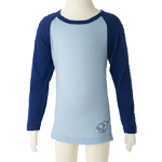 Merino Kids Long Sleeve Top $55 - $70 in Blue & Pink.