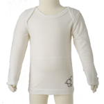Merino Babies Long Sleeve Top $45  in Vanilla, Blue & Pink.