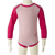 Merino Long Sleeve Body Suit in pink.