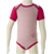 Merino Short Sleeve Body Suit in pink.