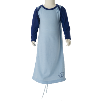 Merino Nightdress in blue.