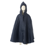 Kids Waterproof Rain Cape $40 in Red & Navy.